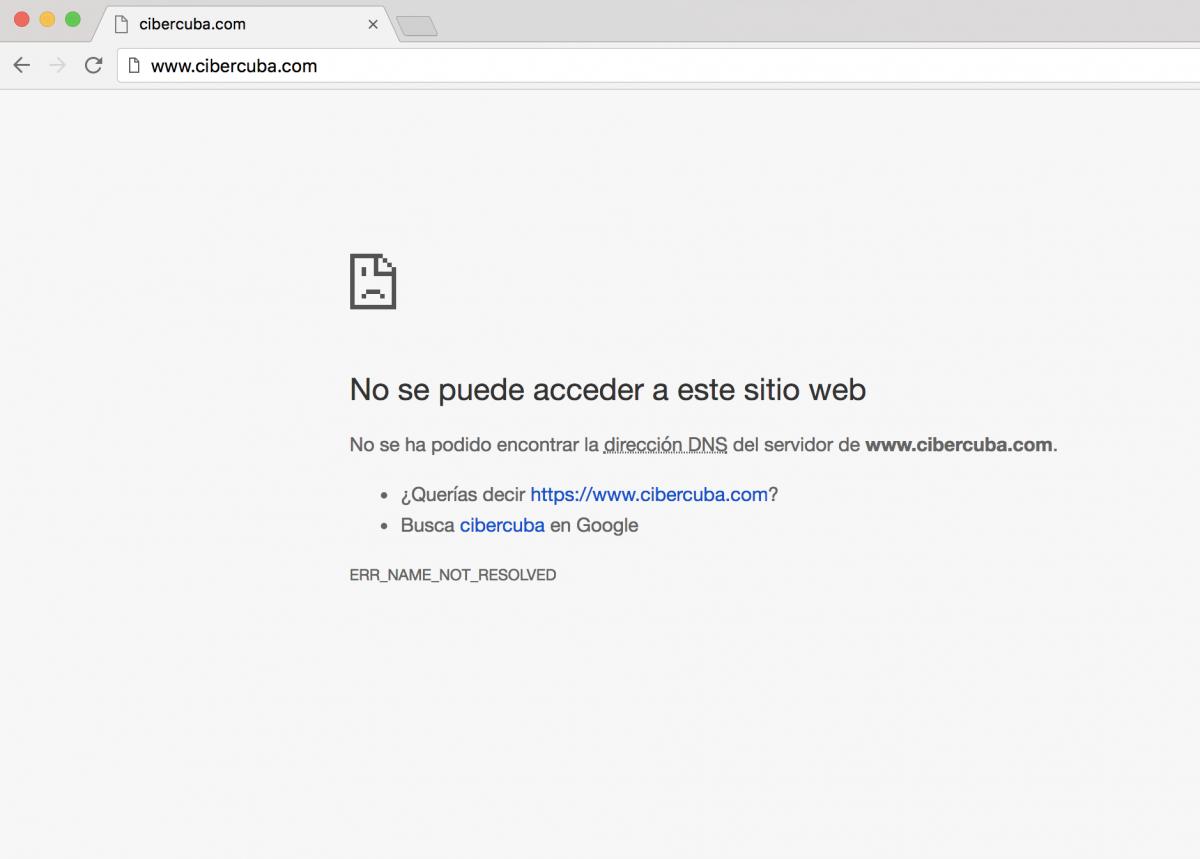 Imposible acceder a la web de CiberCuba desde Cuba