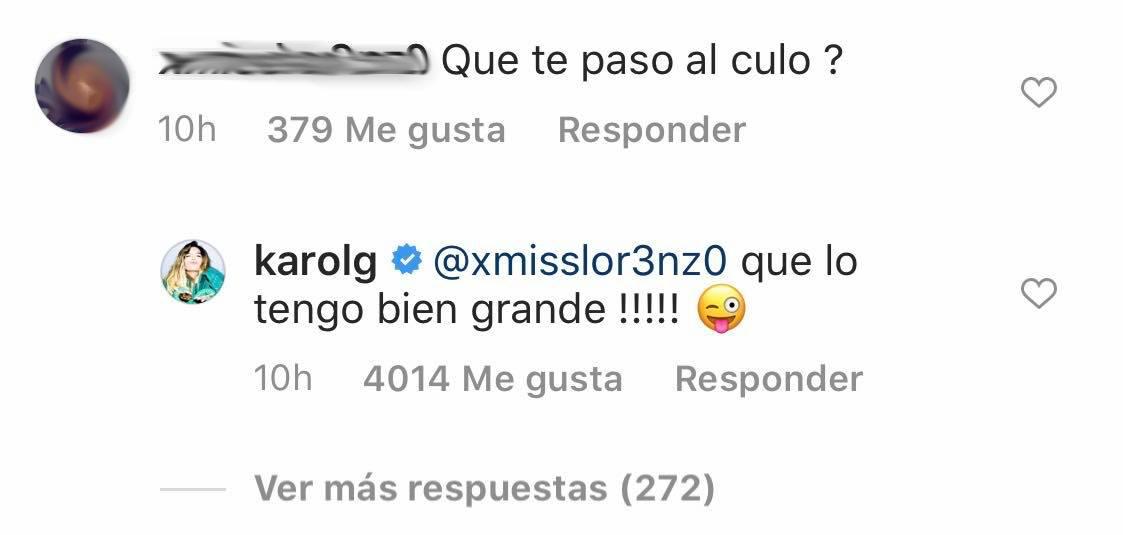 Karol G responde a una usuaria