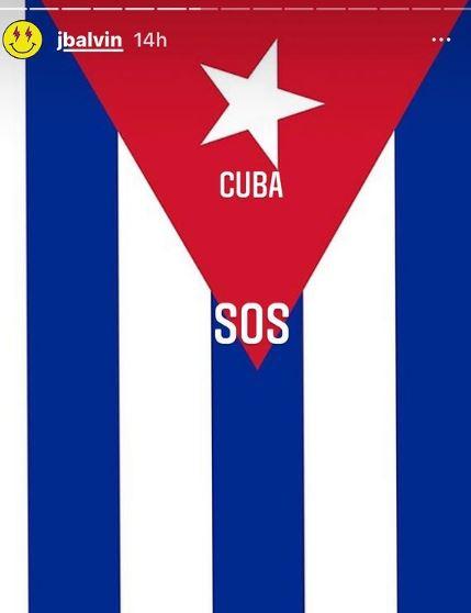 J Balvin se solidariza con Cuba