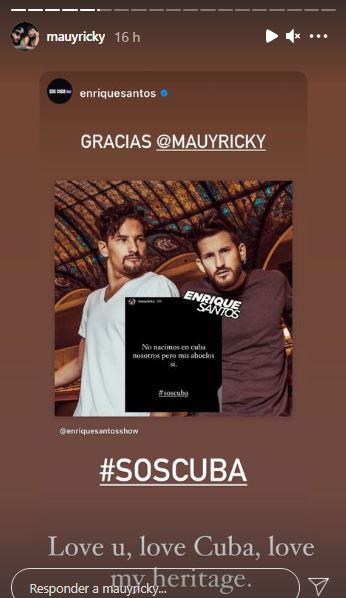 Mau y Ricky apoyan a Cuba