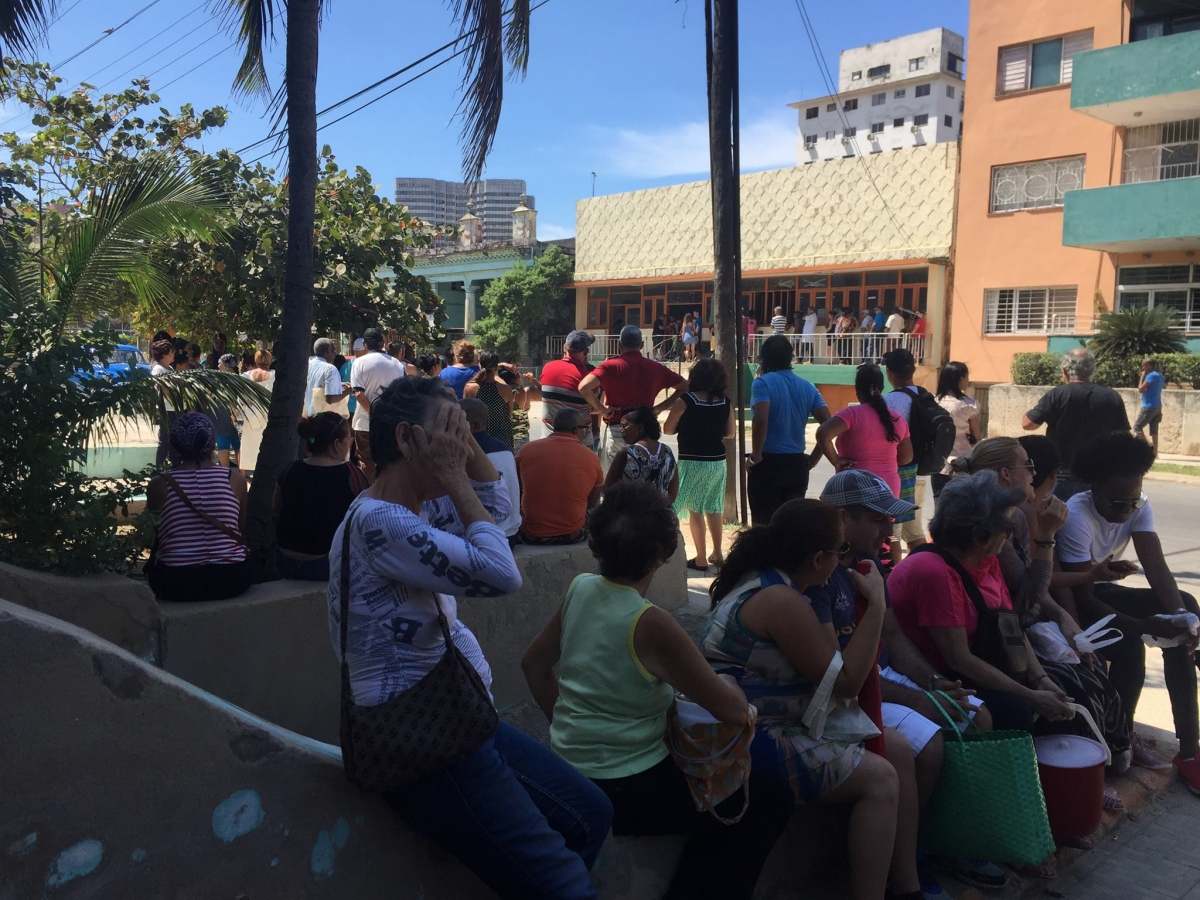 So are the queues to buy eggs in Havana