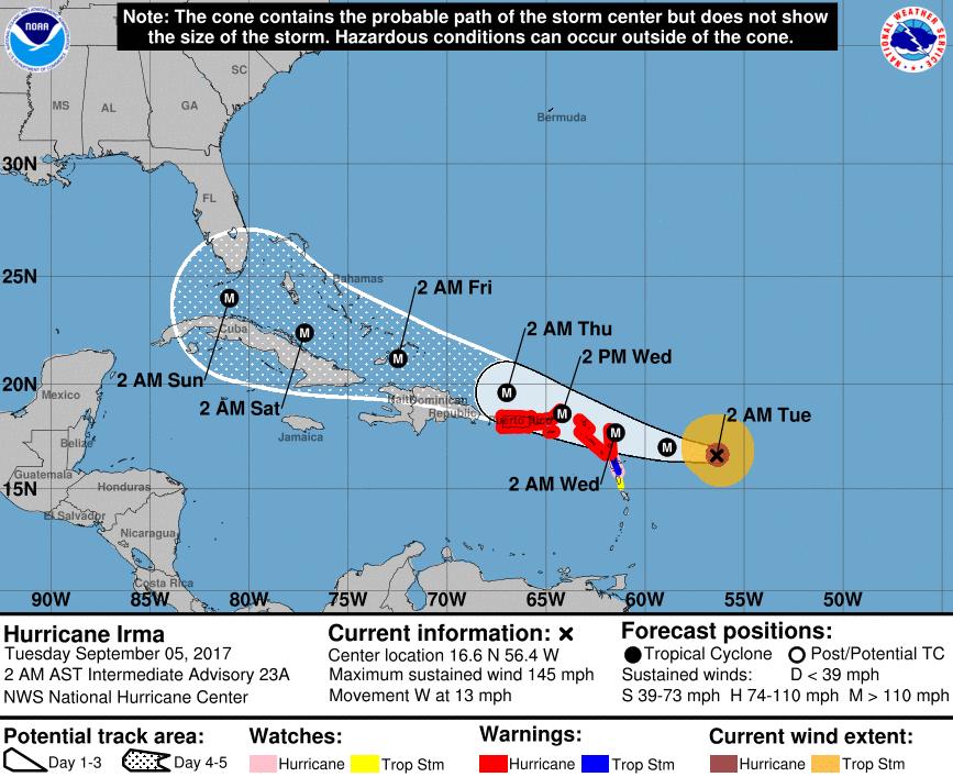 VENEZUELA: Huracán Irma ascendió a categoría 4 y se dirige al Caribe