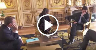 El perro del presidente de Francia se orina en plena reunión oficial