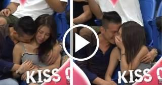 ¿El momento más incómodo captado por una Kiss Cam?