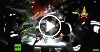 Milagro tras el terremoto en Italia: rescatan a un bebé y a sus dos hermanos de entre los escombros