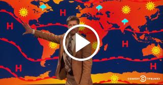 Brad Pitt hace de meteorólogo por un día para criticar a Donald Trump