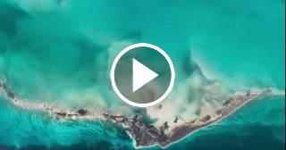 Archipiélago de los Canarreos y Cayo Largo del Sur vistos desde el cielo