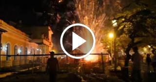 Impresionante espectáculo de fuegos artificiales en las Parrandas de Remedios 2017