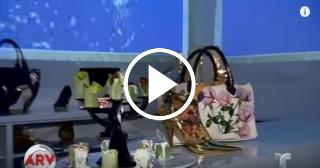 Chef de Miami sirve sus platos en bolsos y zapatos de mujer