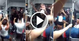 Insólito: Pasajeros cubanos bailan reguetón a bordo de un P1 en La Habana