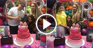 Así fue la fiesta sorpresa de cumpleaños que le preparó Jacob a su hija Laira