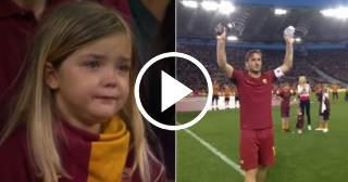 Entre lágrimas el Olímpico de Roma se despide de Francesco Totti