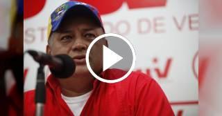 Diosdado Cabello dice que el grupo de Óscar Pérez iba a atentar contra la embajada de Cuba