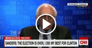 Bernie Sanders habla sobre el futuro de EEUU con Donald Trump como Presidente