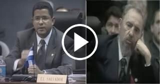 """El """"encontronazo de Castro"""" con el presidente de El Salvador en la Cumbre Iberoamericana del año 2000"""