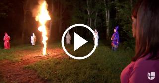 Un miembro del Ku Klux Klan amenaza con quemar a presentadora de Univisión