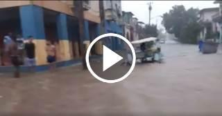 Inundaciones por fuertes lluvias en La Habana