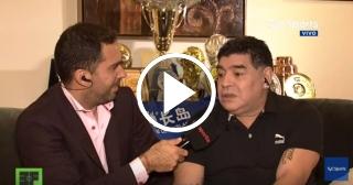 """Maradona: """"Messi no es mucho más que Cristiano Ronaldo"""""""