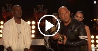 Vin Diesel recuerda a Paul Walker en la gala de los Premios MTV