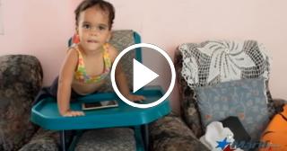 Lanzan campaña para contribuir con la niña cubana que perdió sus piernas a los tres meses
