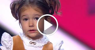 Niña rusa de 4 años deslumbra en televisión hablando siete idiomas