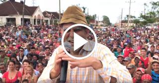 """Elenco de """"Vivir del cuento"""" actúa para los damnificados del huracán Irma en Camagüey"""