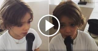 ADORABLE: Mira que lindo canta el hijo de Juanes