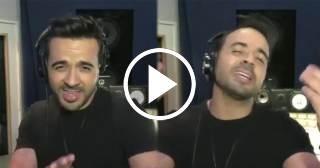 """Luis Fonsi canta su versión más íntima de """"Despacito"""" en un karaoke"""