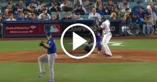 Con la ayuda de Puig, Dodgers vencen a los Cubs en Juego 1