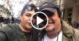 Grabación de Súbeme la radio en Cuba, con Robertico