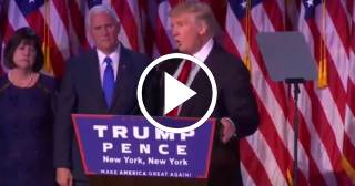 Donald Trump pronuncia su primer discurso tras ser electo presidente