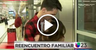 Joven cubana se reencuentra con su familia tras 4 meses detenida en EEUU