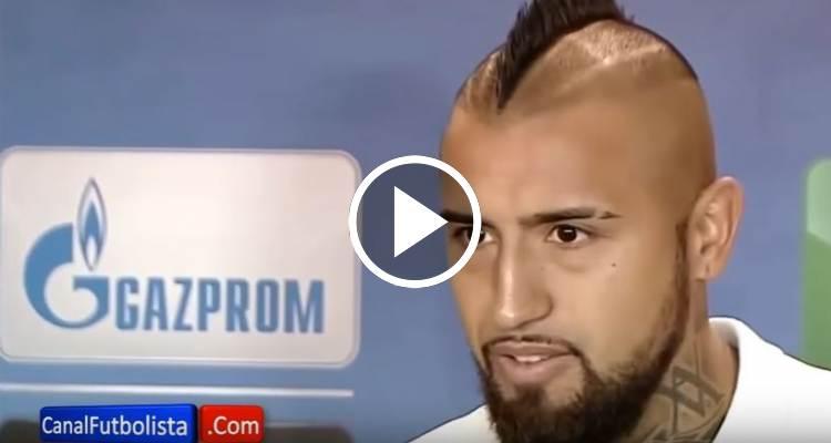 """Arturo Vidal: """"Ese robo no puede pasar en una Champions"""""""