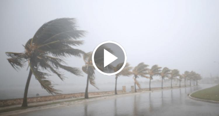 Primeras imágenes del azote del huracán Irma en el centro de Cuba