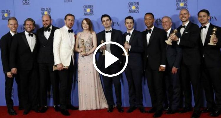 """El filme """"La La Land"""" hace historia en los Globos de Oro"""
