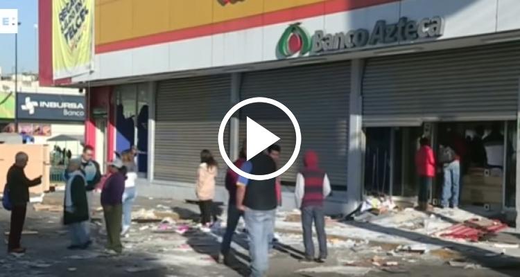 Los saqueos dejan destrozado un centro comercial en México