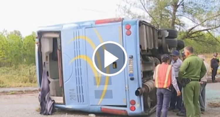 Accidente de tránsito en Santa Clara deja 46 heridos