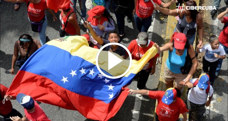 Así informó la Televisión Cubana sobre las protestas en Venezuela del 19 de abril