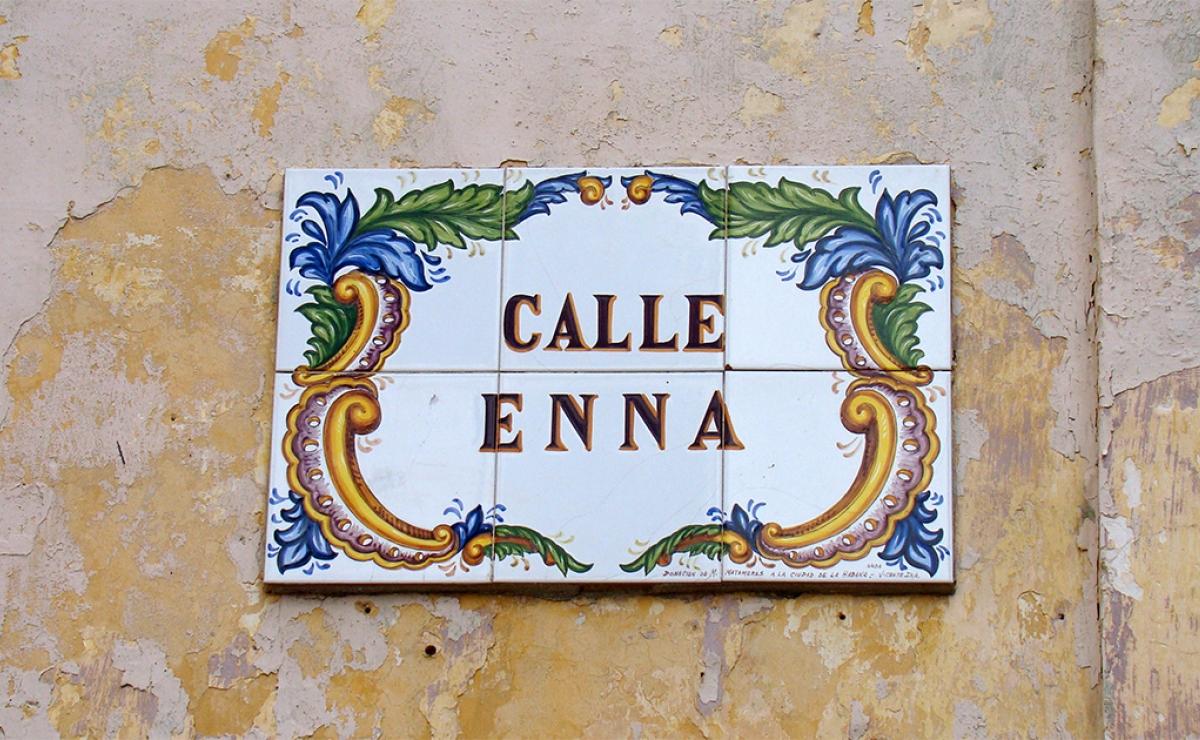 Calle Enna, la más pequeña