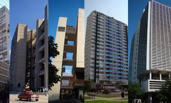5 edificios de Antonio Quintana en el Vedado