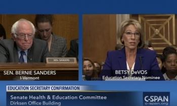 """Betsy DeVos """"hace colapsar"""" líneas telefónicas en el Senado de los Estados Unidos"""