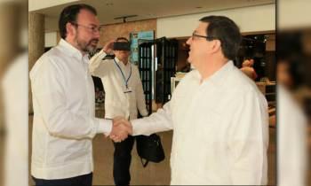 El canciller mexicano viajará este viernes a La Habana