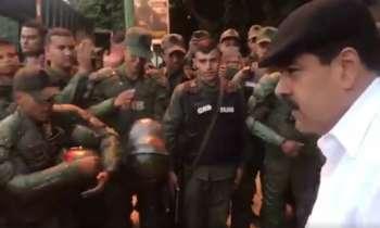 Maduro felicita a la Guardia Nacional Bolivariana por reprimir las protestas