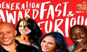 Fast and Furious recibirá el premio Generación en los MTV Awards