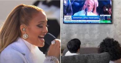 Los hijos de Jennifer Lopez y Alex Rodriguez no se perdieron la actuación de la artista en la investidura de Joe Biden