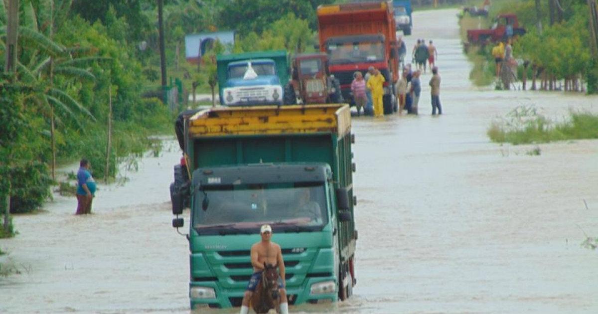 Überschwemmung in Sancti Spíritus. | Foto © Juventud Rebelde.
