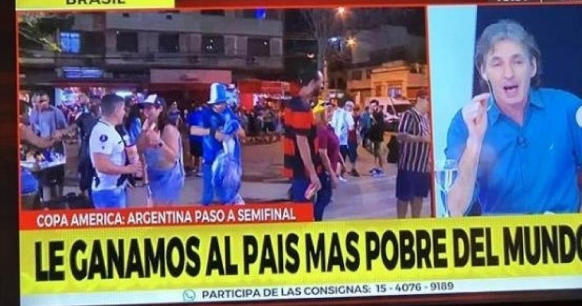 Indigna Una Televisora Argentina Tras La Victoria Sobre