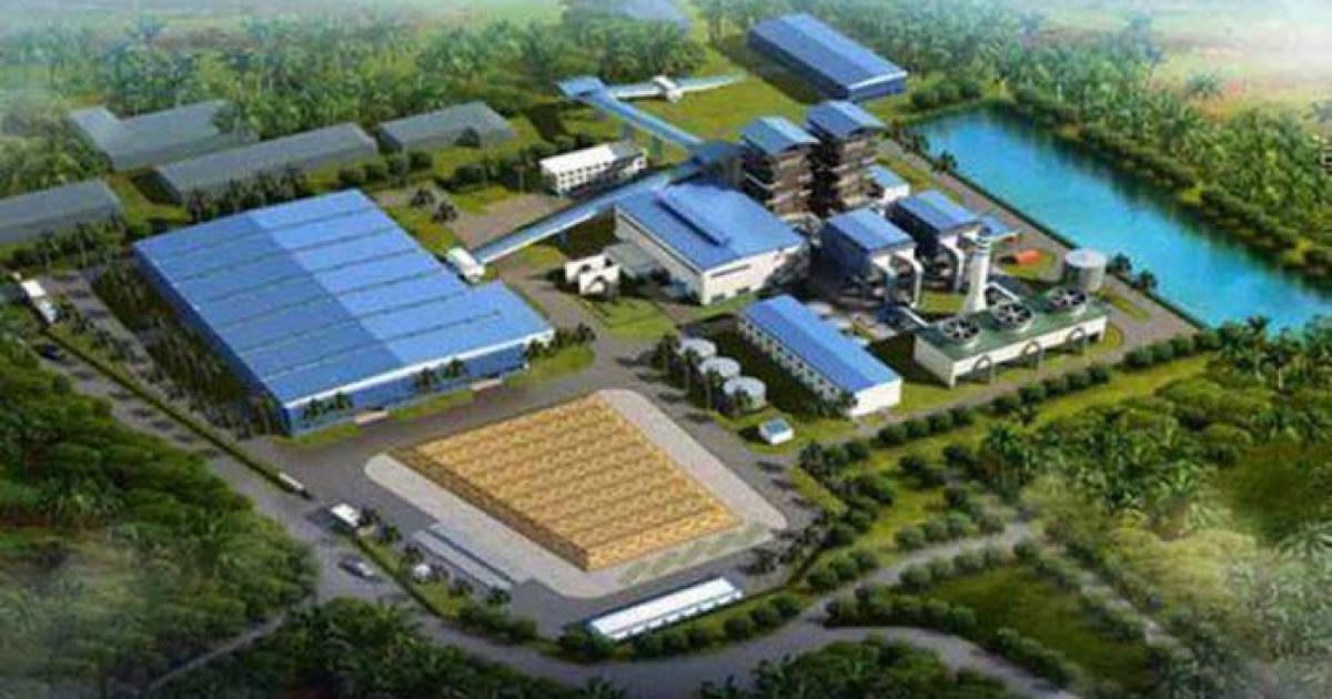Modell des im Bau befindlichen Biokraftwerks in Ciego de Ávila | Bildquelle: https://www.cibercuba.com/noticias/2019-12-27-u1-e186450-s27061-gobierno-cuba-espera-primera-central-bioelectrica-funcione © Cubadebate | Bilder sind in der Regel urheberrechtlich geschützt