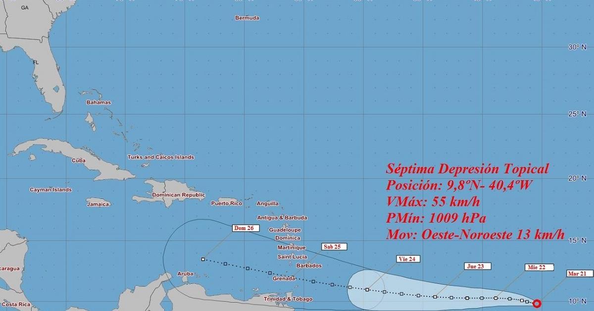 Tropisches Tief auf dem Weg in die Karibik | Bildquelle: https://www.cibercuba.com/noticias/2020-07-22-u1-e186450-s27061-instituto-meteorologia-cuba-emite-aviso-ciclon-tropical © INSMET | Bilder sind in der Regel urheberrechtlich geschützt