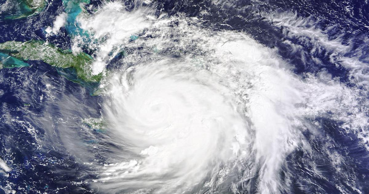 Hurrikan Matthew über Kuba im Jahr 2016 | Bildquelle: https://t1p.de/73vq © Flickr / NASA | Bilder sind in der Regel urheberrechtlich geschützt